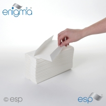 C-Fold Hand Towel (White)