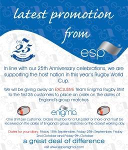ESP Rugby Shirt Promo 2015