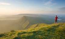 On Pen y Fan in the Brecon Beacons, looking towards Cribyn.