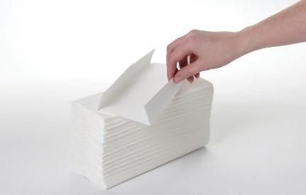 C Fold Hand Towel White